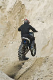 Motorcycle hill climbing Stock Photo