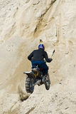 Motorcycle hill climbing Royalty Free Stock Photo