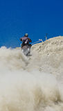 Motorcycle hill climbing Stock Photos