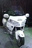 Motorcycle Honda Gold Wing white Royalty Free Stock Photos
