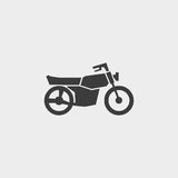 Motorcycle icon in a flat design in black color. Vector illustration eps10 Royalty Free Stock Image