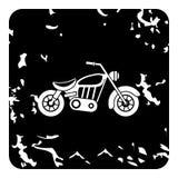 Motorcycle icon, grunge style Stock Photography