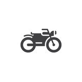 Motorcycle icon , motorbike solid logo illustration, picto. Gram isolated on white Royalty Free Stock Images