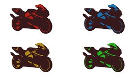 Motorcycle icon. Sign,best 3D illustration royalty free illustration
