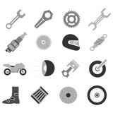 Motorcycle icon set Royalty Free Stock Photography