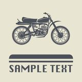 Motorcycle icon or sign Stock Photos