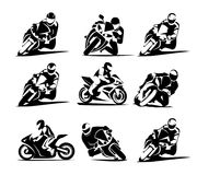 Motorcycle Icon. Sportbike. Sign isolated on white background. Flat design style. Vector illustration. icon Royalty Free Stock Images