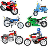 Motorcycle Icons Royalty Free Stock Images