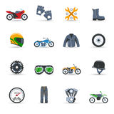 Motorcycle Icons Set Royalty Free Stock Photos