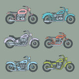 Motorcycle Icons set Stock Images