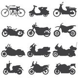 Motorcycle Icons set. Vector Illustration. Royalty Free Stock Images