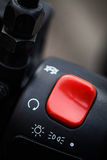 Motorcycle ignition button Royalty Free Stock Image