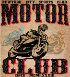 Motorcycle illustration tee shirt graphic design Stock Photo