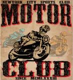 Motorcycle illustration tee shirt graphic design Stock Photo