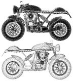 Motorcycle Illustration Vector Stock Images