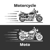 Motorcycle Illustration. On white and gray background Stock Photos