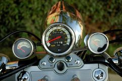 Motorcycle indicator. S on the dashboard Stock Image
