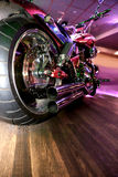 Motorcycle indoors Stock Photography