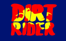 Motorcycle in inscription. Silhouette of motorcycle in inscription dirt rider, vector illustration Royalty Free Stock Photos