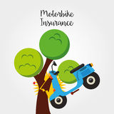 Motorcycle insurance Royalty Free Stock Photography