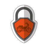 Motorcycle insurance isolated icon Stock Photo