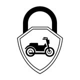 Motorcycle insurance isolated icon Stock Images