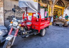 Motorcycle in Iran stock image
