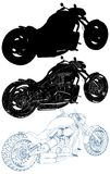 Motorcycle Isolated Illustration On White Vector Royalty Free Stock Photos
