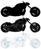 Motorcycle Isolated Illustration On White Vector Royalty Free Stock Photo