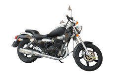 Motorcycle isolated on white background Stock Photography