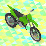 Motorcycle isometric. cross motorbike vector Stock Images
