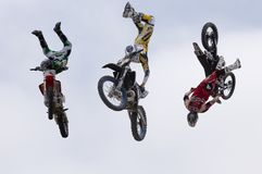 Motorcycle jump royalty free stock images