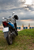 Motorcycle on Karon Beach Phuket Stock Photo
