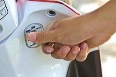 Motorcycle key lock Royalty Free Stock Image