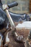 Motorcycle kick starter Royalty Free Stock Photography