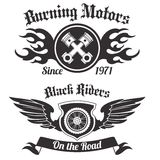 Motorcycle label black Stock Images