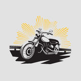 Motorcycle label. Motorcycle symbol. Motocycle icon Stock Images
