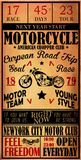 Motorcycle label t-shirt design with illustration of custom chop Stock Photo