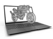 Motorcycle laptop design concept Stock Photo