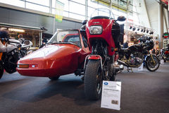 Motorcycle Laverda RGS, with a sidecar Carell-Shoo, 1983. STUTTGART, GERMANY - MARCH 18, 2016: Motorcycle Laverda RGS, with a sidecar Carell-Shoo, 1983. Europe's stock image