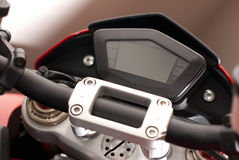 Motorcycle LED Gauge Display Royalty Free Stock Photo