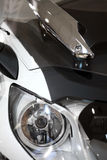 Motorcycle LED headlight. Color image of a modern motorcycle LED headlight Stock Images