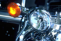 Motorcycle Lights. Tail lights on a motorcycle royalty free stock images
