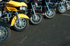 Motorcycle lineup Stock Image