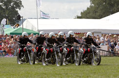 Motorcycle lineup Royalty Free Stock Images