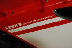 Motorcycle Live. Ducati red 1299 superleggera superbike sportsbike Royalty Free Stock Image