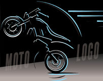 Motorcycle logo illustration, motocross freestyle Stock Photography