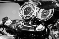 Motorcycle macro details close up Stock Photos