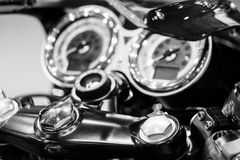 Motorcycle macro details close up Royalty Free Stock Photo