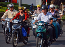 Motorcycle Madness in Saigon 2 Stock Photos